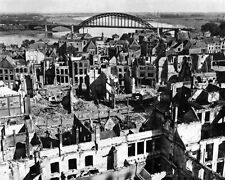 New 8x10 World War II Photo: Nijmegen city and Bridge after Bombardment, Holland