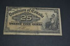 1900 DOMINION OF CANADA 25 CENTS PAPER MONEY
