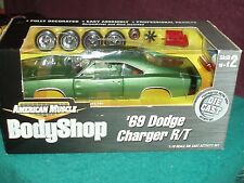 "ERTL 1969 DODGE CHARGER R/T MET GREEN ""BODY SHOP"" ASSEMBLY MODEL KIT 1/18 VHTF"