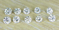 Natural Loose Brilliant Cut Diamond 10pc 0.8-2.8mm I1 Clarity J Color Round Cut