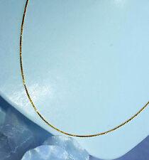 SEHR FEINE VENEZIANERKETTE  42 cm  750 GOLD HALSKETTE GOLDKETTE 18 KT NEU