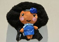 Handcrafted, Super Cute Black/ African American Backpack Doll (Blue)