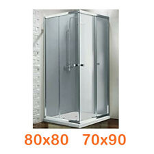 Cabina Box doccia angolare ad angolo vetro cristallo trasparente scorrevole