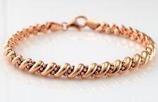 """Plaqué or Rose en Argent Sterling 925 San Marco Style Bracelet 7.5 """""""