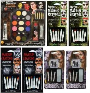 LOT OF 7 - Multi-Brand Halloween Monster Value Makeup Set Costume Kit Bundle