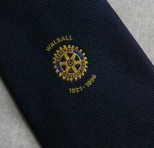 Walsall Rotary International Club Asociación Corbata Vintage 1921-1996 1990 S Azul Marino