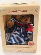 """NIB 2000 Dakin Raggedy Ann Collector Bear No 2  12"""" Bear 3"""" Raggedy Ann And Andy"""