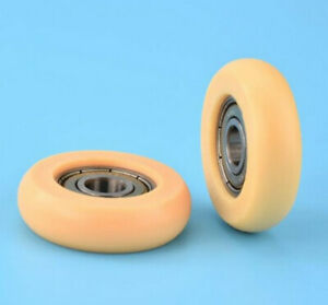 Rowing machine seat wheel, new. Nylon roller wheel with bearing, 8x36x10mm