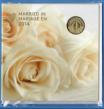 Canada Married In 2014 Special Edition Marriage Wedding Sealed 5 Coin Set