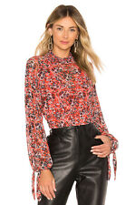 Free People All Dolled Up Crop Blouse Orange Size XS