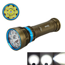 18000LM 9x XM-L L2 LED Underwater 100m  Diving Flashlight Torch lamp New