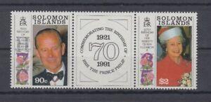 Salomon Îles 748/49 Zd - 65. Anniversaire Elisabeth Ii. (MNH)