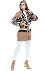 RRP €105 VICOLO Cardigan One Size Cashmere Angora & Wool Blend Made in Italy
