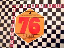 Disque de taxe de France 1976-CITROEN 2CV DYANE HY van DS AMI 8 RENAULT 4CV 4 h ripple