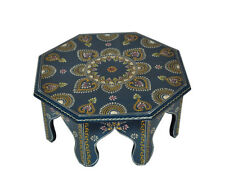 Living Room Decor Indian Wooden End Table Low Height Footstool Party Supplies