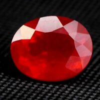 TOP COLOR RED OPAL : 1,43 Ct Natürlicher Orange Rot Feuer Opal aus Mexiko