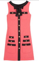 Moschino Coral and black dress size 10