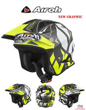 TRRSC31 CASCO ON ROAD AIROH TRR S CONVERT GIALLO OPACO MIS.XL 61-62