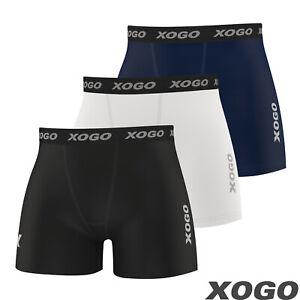 XOGO Mens Compression Boxer Shorts Baselayers Sports Briefs skin fit gym pants