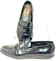 Harrys of London Penny Loafer Men's EUR 41 US 8 Black Leather Slip On Shoe Italy