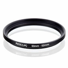 50mm to 52mm 50-52 50-52mm50mm-52mm Stepping Step Up Filter Ring Adapter
