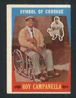 1959 Topps #550 Roy Campanella EX/EX+ Dodgers Symbol of Courage 122933