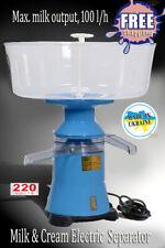 Milk Cream Electric Centrifugal Separator Plastic 100lh Motorsich Ukraine