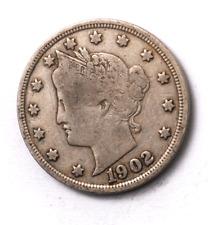 1902 5c V Liberty Nickel Five Cents Rare US Philadelphia