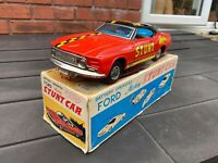 TPS Japan Battery Operated Ford Mustang Stunt Car In Its Original Box - Nr Mint