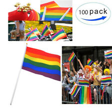 100Pcs Rainbow Flag Gay Pride Lesbian Peace LGBT Party Symbol Gift Decoration