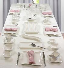 417-1] 36 Teile Porzellan Frühstücksset Frühstück Tafelservice Dip Teller Schale