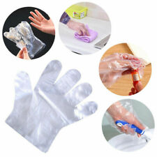 100-500PCS Healty Plastic Clear Gloves Food Cleaning Home Catering Beauty Use