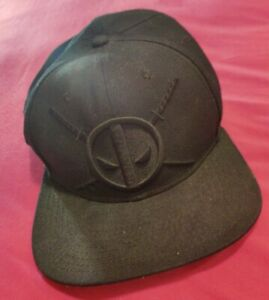 Marvel Deadpool Hat Cap One Size Fits Most Snapback