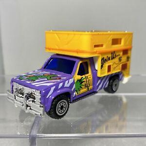 Realtoy GMC 3500 Camper Truck ~ 1:60 - 1:64 Diecast Purple w/ Zebra Stripes