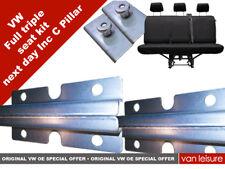 VW Transporter T5 T6 Kombi Triple seat reinforced plate kit & C pillar brackets