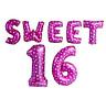 Girls Boys Sweet Sixteen 16 16th Birthday Party Celebration Decor foil balloons