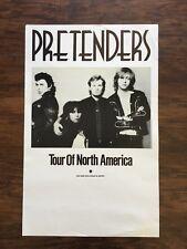 1980 Pretenders Tour of America Sire Records promo poster