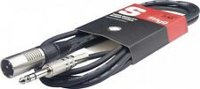 Stagg SAC3PSXM Stereo Jack to Male XLR Cable, 3m/10ft