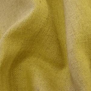 "60"" WIDE Hessian Fabric Fire Retardant Jute Cloth Burlap 17 COLOURS FREE SAMPLES"