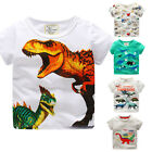 Toddler Kids Baby Boys Clothes Short Sleeve Dinosaur Print Tops T-Shirt Blouse