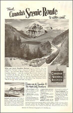 1950s vintage travel AD CANADIAN National RAILWAYS Scenic Route to Coasts 072017