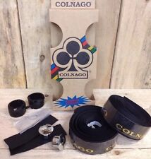 Limited Edition Colnago Technogrip Carbon Effect Black With Gold Print Bar Tape