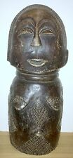 BEAUTIFUL OLD WEST AFRICA WOOD STATUE MASK OF FERTILITY FEMALE - AMAZING DETAILS