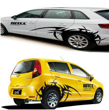 Car SUV Wheel Eyebrow Flame Hot Wheels Stylish Sticker Stripe Decal Eye-catching