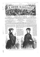 Civil war era MODE ILLUSTREE SEWING PATTERN Oct 4,1868 - Blouses, bonnets...