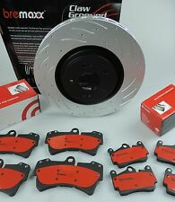 BREMBO pads & BREMAXX slotted disc brake rotors FRONT & REAR AUDI Q7 full pack