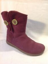 Clarks Purple Ankle  Leather Boots Size 4D