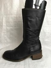 Ladies Mid-Calf Boots UK Size 6.5 EU 40 Black Leather