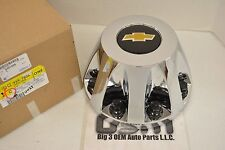 Chevrolet Silverado 3500 Chrome Rear 8 Lug Wheel Center Hub Cap with Bow Tie OEM