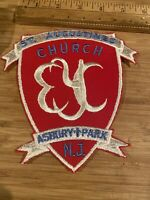 PATCH SEW ON OLDER ST AUGUSTINES CHURCH ASBURY PARK NEW JERSEY OVER 6 INCHES